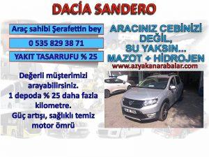 Dacia sandero hidrojen yakıt tasarruf cihazı kullananlar