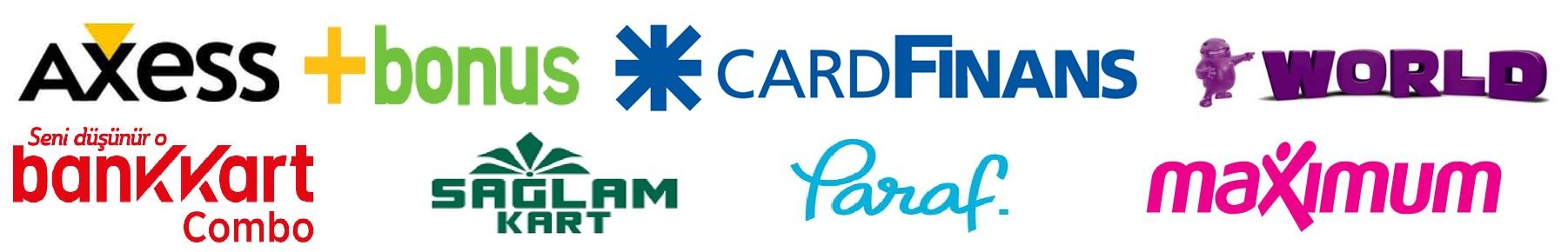 Anlaşmalı kartlara 12 ye kadar taksit seçenekleri sunulmaktadır. Taksit seçenekleri sanal mağazamız içindir.